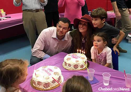 Josh Levine and family: his wife Hayley, and children Wesley and Lilah