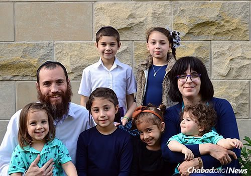 Rabbi Dovid and Nechama Hordiner, and their six children