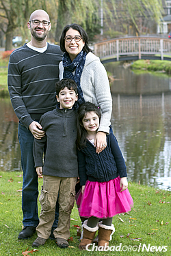 Marc Nerenberg and family: his wife Shira, and children Elliot and Evie