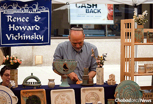 Howard Vichinsky, who makes Judaica-themed pottery on an old farm outside Kingston, said the lessons on Jewish law have become part of his character. (Courtesy of Dennis Beck Photography)