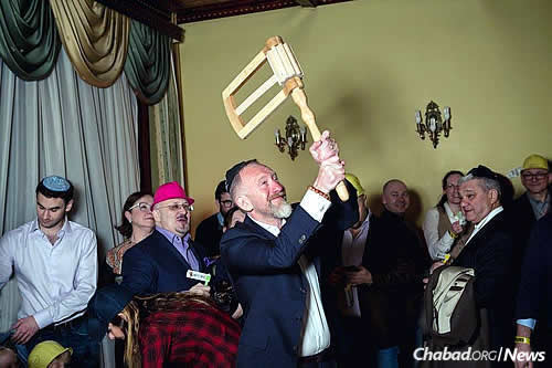 Celebrating Purim at the International Jewish Community, which caters to Jewish expatriates living and working in Moscow.