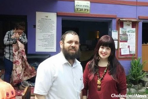 Rabbi Chezki and Chani Lifshitz, co-directors of Chabad of Nepal