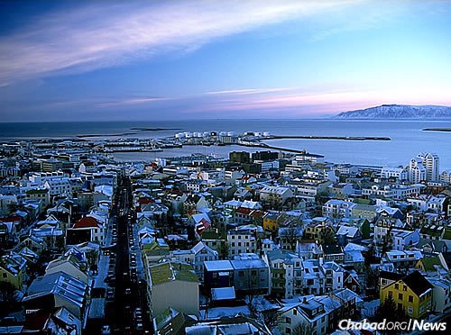 The capital city of Reykjavik, where almost all of the country's Jews reside. (Photo: Wikimedia Commons)