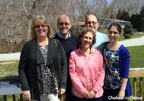 In Connecticut are, from left: Deanna Lieberman's aunt and uncle from Kentucky, Lisa and John Lieberman; her parents, Lauren and Andrew Lieberman; and Deanna.