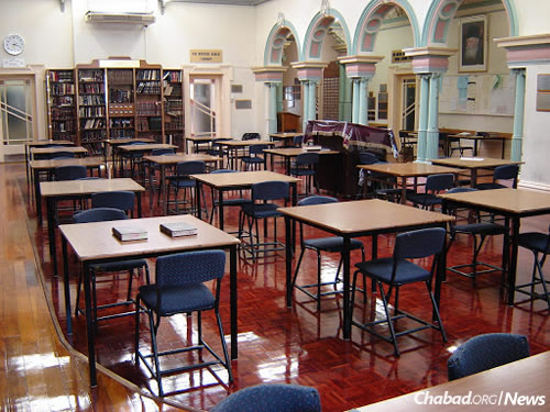 The main study hall of Yeshivah Gedolah