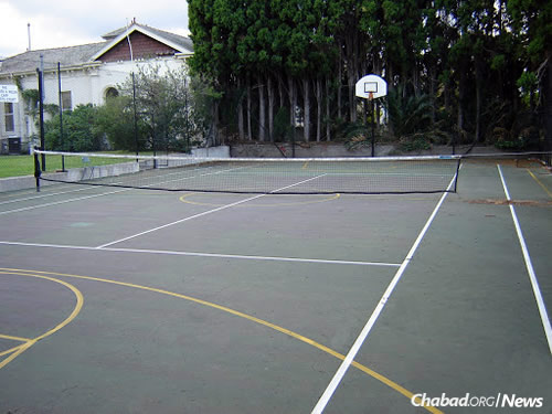 Tennis courts for outdoor exercise