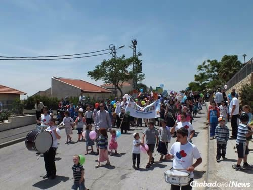 The parade in Neve Daniel brings out the entire community.