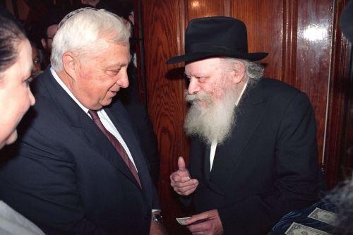 אריאל שרון במפגש עם הרבי
