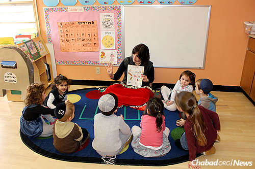 Young children learn at the Lubavitch Cheder Day School in St. Paul.