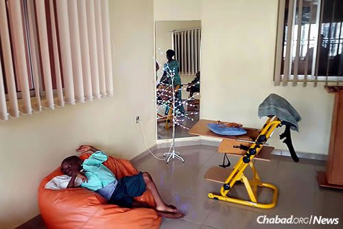 Equipment in clean, fresh rooms has been aquired to benefit children with special needs.