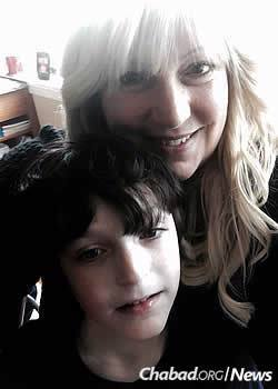 Cheri Cutler and 7-year-old Jacob of Philadelphia