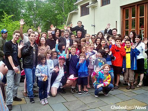 Jewish residents of Short Hills enjoy Lag BaOmer festivities held by the Solomon family.