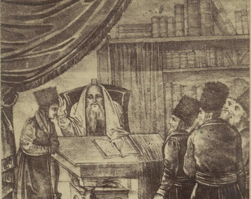 Rabbi Yisrael of Kozhnitz (courtesy of the National Library of Israel)