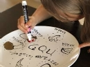 Ceramic Seder Plate Painting