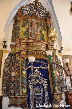 The ark in Safed's Ari Synagogue, named for the preeminent Safed Kabbalist Rabbi Isaac Luria