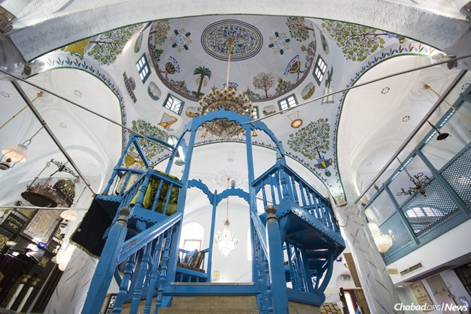 "The historic Abuhav Synagogue is one of 60 in Safed where the ""Tikkun Leil Shavuot"" will be recited on the first night of the festival."
