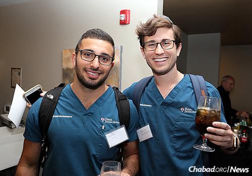 Penn dental students Michael Moshenayov, left, and Daniel Shimansky (Photo: Marc Smiler)