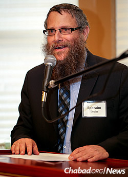 Rabbi Ephraim Levin (Photo: Marc Smiler)