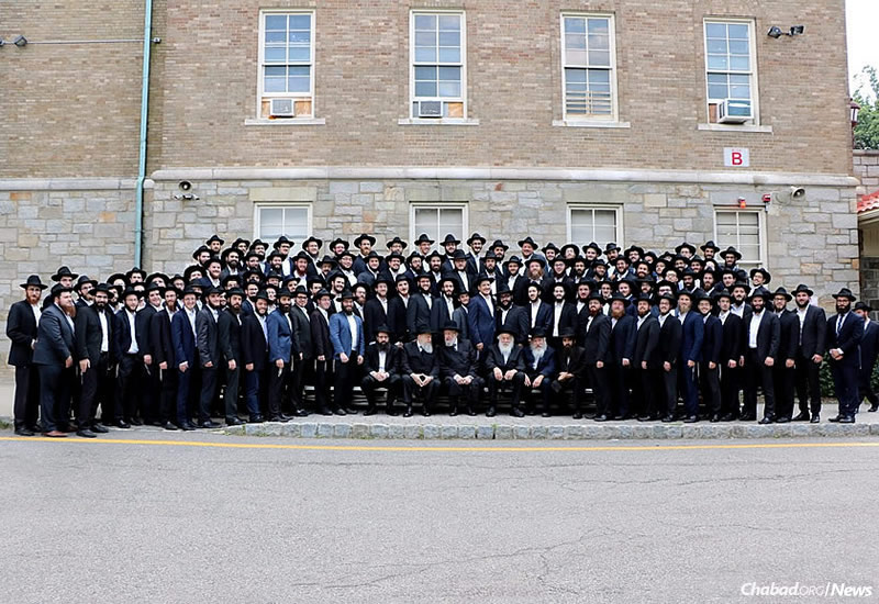 Many of the 257 graduates of the Rabbinical College of America in Morristown, N.J., pose for a picture for what is possibly the largest celebration of its kind in the world this year.