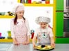 Chana & Menachem Bake Mini Pizzas