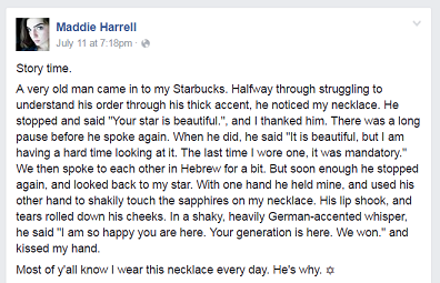 Maddie Harrell FB post