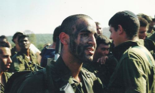 In the army, before the accident