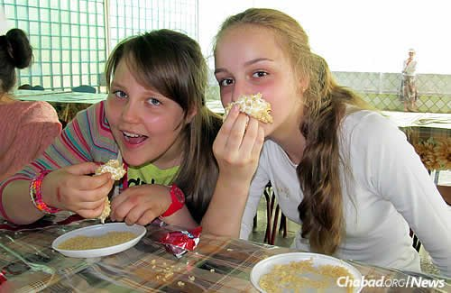 In the current economic climate in Ukraine, parents are relieved knowing their children get three nourishing meals a day at camp, plus snacks.