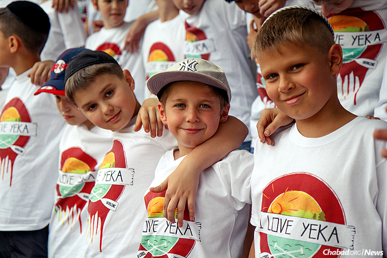 """More than 250 Jewish boys will arrive this month for another summer at Camp Gan Israel Yeka in Ukraine, which for the first time will be held at the state-of-the-art Goluboya Plamya (""""Blue Flame"""") campgrounds on the shore of the Azov Sea. (Photo: Avraham Edery)"""