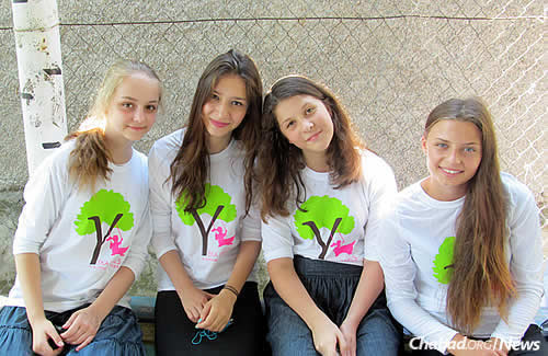 A highlight of the girls' camp last summer was an event where 16 campers received Jewish names for the first time. This year's Yeka session for girls, which drew 120 participants, is wrapping up at the FJC's campus in Zhitomir.