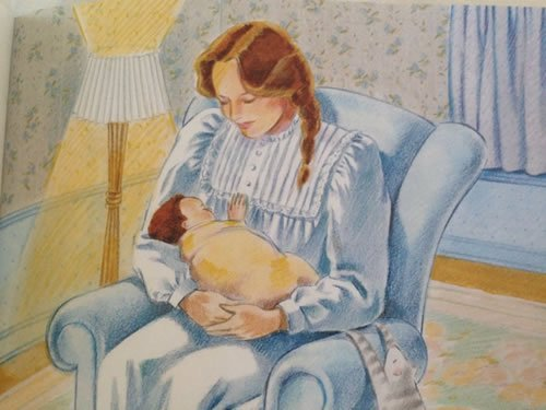"Illustration by Sheila McGraw from ""Love You Forever"" by Robert Munsch"