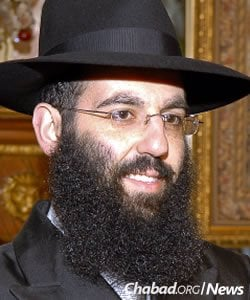 Rabbi Boruch Sholom Wolf, co-director of Chabad at the Medical Centers in New Hyde Park, N.Y.