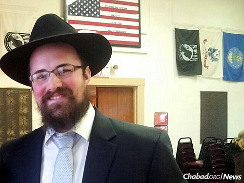 Rabbi Zalman Sandhaus, co-director of the Pardes Chabad Center for Jewish Life in Fishkill, N.Y.