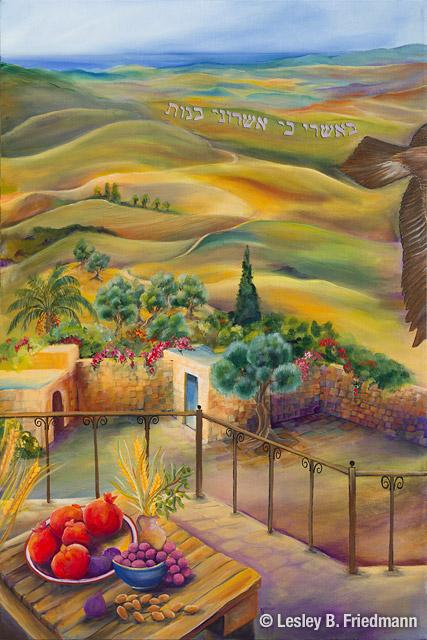 12 Tribes paintings - Chabad of Vancouver Island