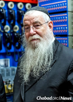 Rabbi Chaim Baruch Halberstam today (Photo: Eliyahu Yosef Parypa/Chabad.org)