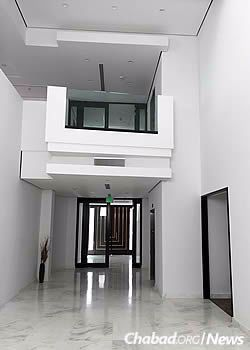 Interior of the new building