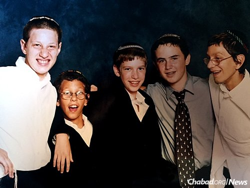 The boys at a cousin's bar mitzvah