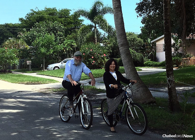 Grandparents and North Miami Beach, Fla., residents Simcha Gottlieb and Frumma Rosenberg-Gottlieb are gearing up to participate in an intergenerational bike-a-thon on Sept. 11, Grandparents Day.