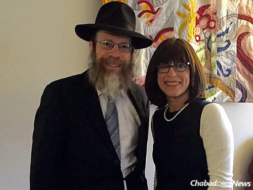 Rabbi Shmuel and Sara Weinstein, who have run the Chabad House at the University of Pittsburgh for nearly three decades