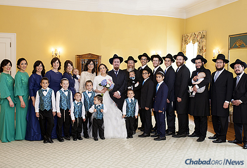 The Weinsteins at the summer wedding of their daughter, Nechama, to Yehuda Welton