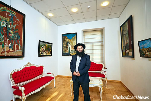 """Isakov sees his art as a part of his mission. """"People are surprised when they hear, 'The artist is the rabbi of Derbent.' They don't see rabbis in that way."""""""