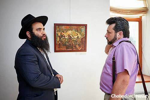 More than 60 people came to the opening, Jews and non-Jews alike.
