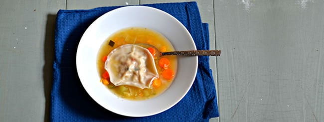 Recipes for an Easier Fast: Traditional Chicken Kreplach in Golden Chicken Soup
