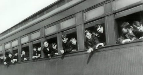 My great-grandfather came from New York on an orphan train like this one.