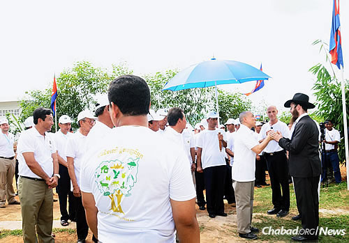 The rabbi has become familiar with Cambodian leadership since he arrived in 2009.