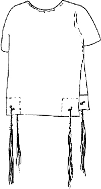 Fig. 2: With four corners of the requisite dimensions, this garment is required to have tzitzis.