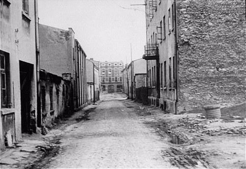 The desolate streets of the Częstochowa Ghetto in 1944.