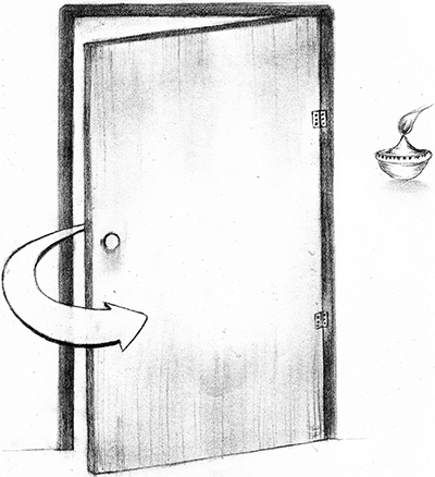 Fig. 16: A Lamp at the Side of a Door