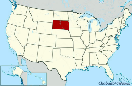 Map of the United States with South Dakota highlighted (Photo: Wikimedia Commons)
