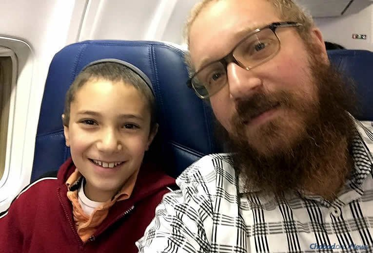 Tzvi Perlstein, 11, traveled with his father, Rabbi Avrohom Y. Perlstein, co-director of Chabad Jewish Center of Salem, Ore., last year to the International Conference of Chabad-Lubavitch Emissaries (Kinus Hashluchim), held annually in Brooklyn, N.Y. They are going again this year, where Tzvi will take part in programming for sons of emissaries the world over.