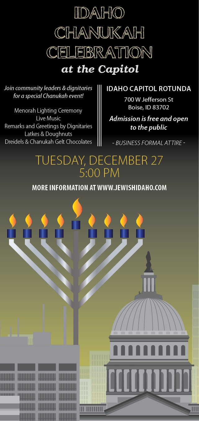 Idaho Chanukah Celebration At The Idaho State Capitol Chabad